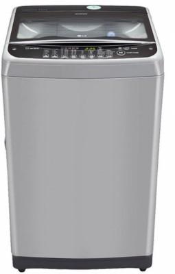 LG 8.5 kg Fully Automatic Top Load Washing Machine Silver, Black(T9577TEELJ)