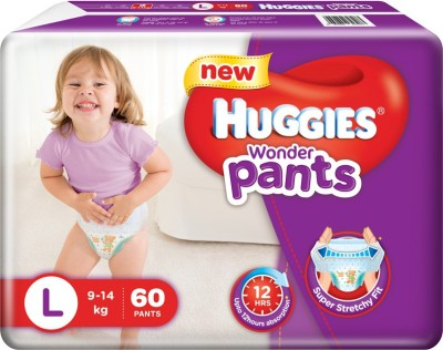 Huggies Wonder Pants Baby Diapers, L 60 Pieces