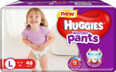 Huggies Wonder Pants Baby Diapers, L 48 Pieces