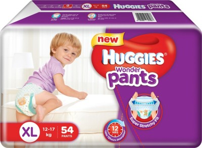Huggies Wonder Pants Baby Diapers, XL 54 Pieces