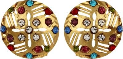 GoldNera 22Kt Gold Polish Dulcet Brass Stud Earring GoldNera Earrings