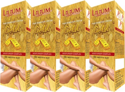 LILIUM Gold Hair Removal Cream 50g Pack of 4 Cream(50 g, Set of 2)