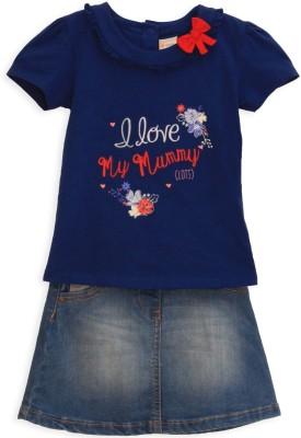 FS Mini Klub Girls Casual Top Skirt(Blue)