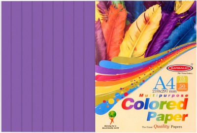 Bambalio violet Paper- Pack of 200 Sheets 75 gsm/ A4 Size - Photo Copy/Copier/Printing/ Art & Craft Coloured Paper(Set of 4, Violet)  available at flipkart for Rs.360