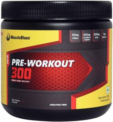MuscleBlaze PRE Workout 300 (0.55lbs, Fruit Punch)