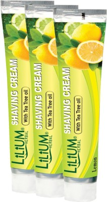 LILIUM Shaving Cream With Tea Tree oil 120gm Pack of 3(120 g)