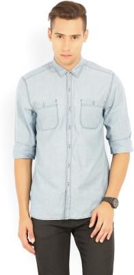 Lee Men Solid Casual Light Blue Shirt at flipkart