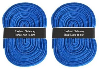 Fashion Gateway 36 Inch Sports Shoe Cotton SL09 Shoe Lace(Blue Set of 2)  available at flipkart for Rs.169