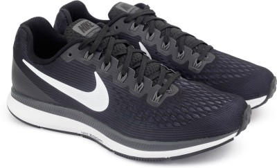 Nike AIR ZOOM PEGASUS 34 Running Shoes For Men(Black) 1