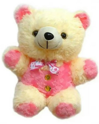 Aparnas CUTE LOOKING pink TEDDY BEAR SOFT TOY FOR KIDS BIRTHDAY GIFT LOVE GIRL   30 cm Multicolor