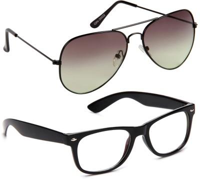 Gansta Wayfarer Sunglasses(Clear, Green)