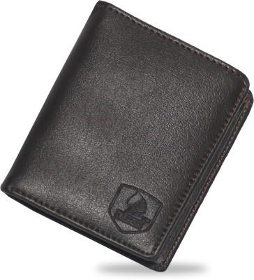 LANDER Men Brown Artificial Leather Card Holder 9 Card Slots