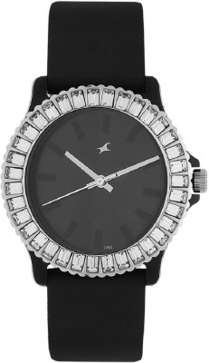 Image of Fastrack Black Dial Watch - For Girls