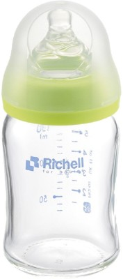 Richell Wide Neck Glass Bottle -150ml - 150 ml(Transparent)