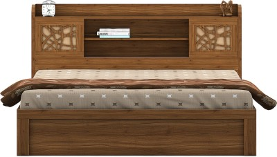 Perfect Homes by Flipkart Waltz Engineered Wood Queen Bed With Storage(Finish Color -  Wenge)