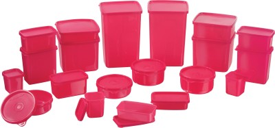 MasterCook - 2000 ml, 1200 ml, 600 ml, 400 ml, 200 ml, 300 ml, 500 ml, 250 ml, 100 ml Plastic Grocery Container(Pack of 21, Pink)