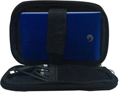 """Frndzmart Shockproof Hard Disk case for 2.5 inch Cushioned, Shock Resistant (for 2.5"""" HDD, Black)(For All 2.5 Inch External Hard drives, Dark Black)"""