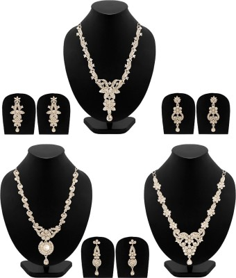 NIA for Voylla Alloy Jewel Set(Silver) at flipkart