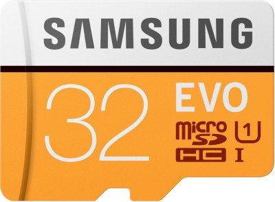 Samsung EVO 32 GB MicroSD Card Class 10 95 MB/s  Memory Card(With Adapter) at flipkart