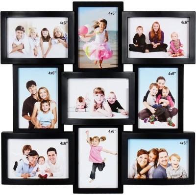 JaipurCrafts Acrylic Photo Frame(Black, 9 Photos) at flipkart