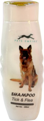 Pets Empire COMBO OFFER DOG SHAMPOO( TICK FLEA 200 ML+SHORT COAT-200ML)PACK OF 2 Allergy Relief, Anti-dandruff, Anti-fungal, Anti-itching, Anti-microbial, Anti-parasitic, Conditioning, Flea and Tick, Hypoallergenic, Whitening and Color Enhancing NATURAL Dog Shampoo(200 ml)