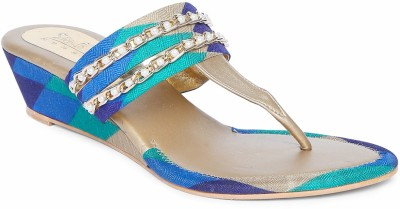 Siendo Desi Women Blue Wedges