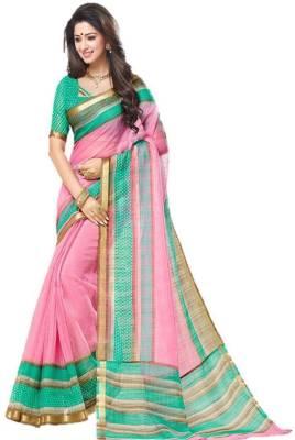 FastColors Solid Bhagalpuri Art Silk Saree