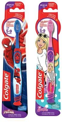 Colgate Kids Barbie & Spiderman Ultra Soft Toothbrush(Pack of 2)