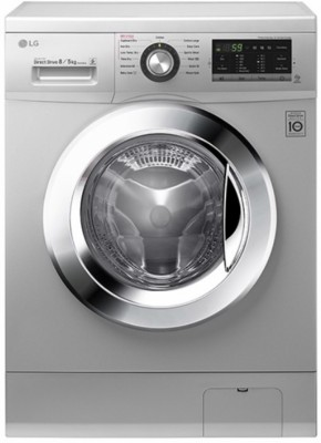 LG 8/5 kg Fully Automatic Front Load Washer with Dryer Silver(FH4G6TDMP4N)