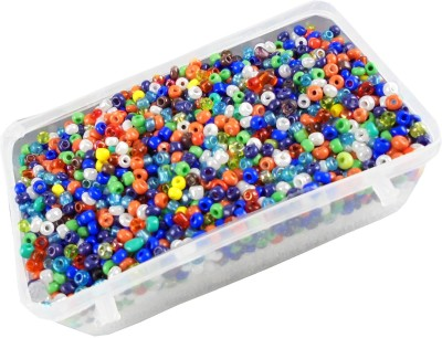estore multicolor glass seed beads 100 gm for jewellery making art and craft diy kit  available at flipkart for Rs.149