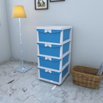 Nilkamal Chester 24 Plastic Free Standing Cabinet(Finish Color - Blue)