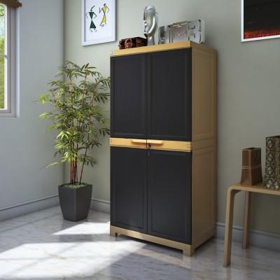 Nilkamal Freedom Plastic Free Standing Cabinet(Finish Color - Beige)
