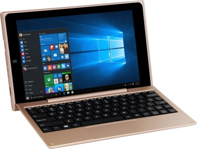 venturer Atom Quad Core 2nd Gen - (32 GB/32 GB HDD/32 GB SSD/32 GB EMMC Storage/Windows 10/2 GB Graphics) WT19803W97DK 2 in 1 Laptop(10.1 inch, SAnd Gold)