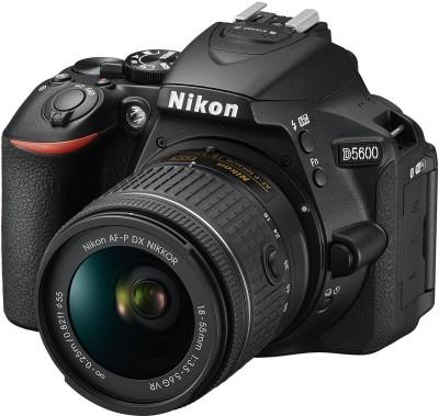 View Nikon DX D5600 DSLR Camera AF-P 18-55mm VR Kit Lens(Black) Price Online(Nikon)