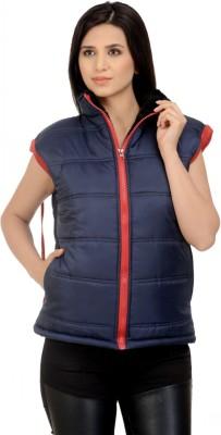 b29e1c3ff8356 30% OFF on ShopyBucket Sleeveless Solid Women s Bomber Jacket on Flipkart