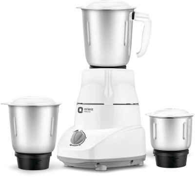 Orient Electric AQUILLA AQUI 500 W Mixer Grinder(White & Grey, 3 Jars)