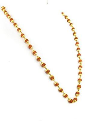 Fully Golden 18kt Rudraksha mala for men/women Gold-plated Plated Alloy Chain