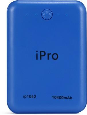Ipro 10400 mAh Power Bank (IP1042)(Blue, Lithium-ion)