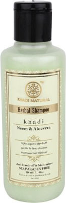 Khadi Natural Neem & Aloevera Shampoo SLS & Paraben Free(210 ml)