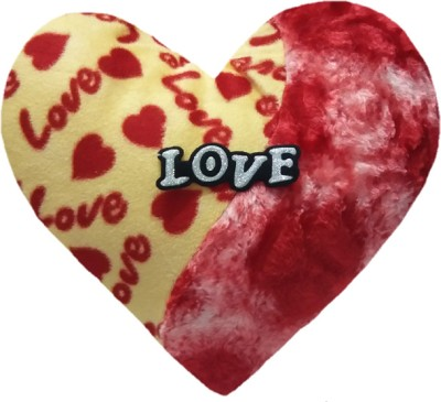 Aparshi Rosy love heart stuffed cushion soft toy  - 30 cm(Multicolor)