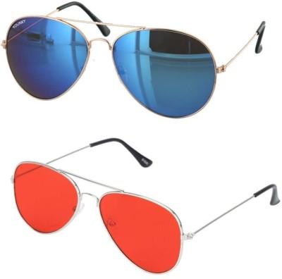 YOUNKY Aviator Sunglasses(Black) at flipkart