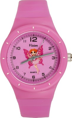Vizion 8825-2-1 Riha-The Butterfly Princess Cartoon Character Analog Watch  - For Girls