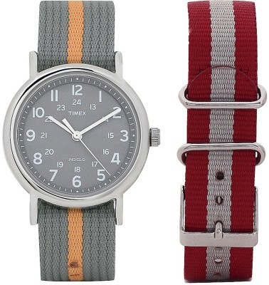 Timex T2N649NS Weekender Analog Watch For Unisex