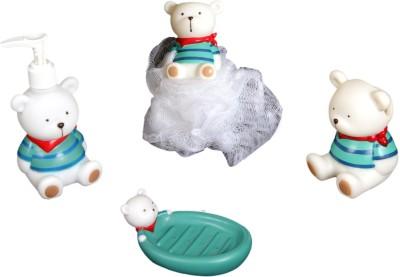 FullHouz Teddy Bear Pack of 4 Bathroom Set Bath Toy(Multicolor)