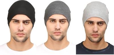 Huntsman Era Solid Helmet cap , Multipurpose Cotton skull Cap(Pack of 3)