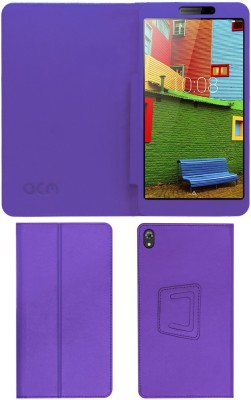 """ACM Book Cover for Lenovo Phab 6.98""""(Purple, Cases with Holder)"""
