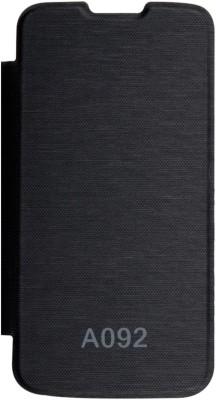 DMG Flip Cover for Micromax Canvas Lite A92(Black, Plastic)