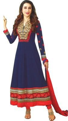 Reya Georgette Embroidered Semi-stitched Salwar Suit Dupatta Material Flipkart