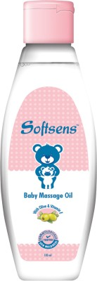 Softsens Soothing Baby Massage Oil with Olive Oil and Vitamin E (100ml)(100 ml)  available at flipkart for Rs.90