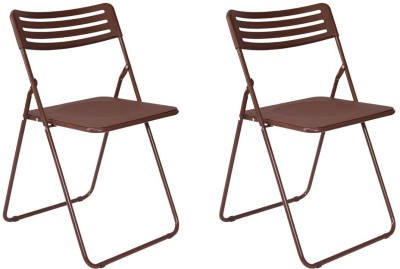 Gadget-Wagon Metal Cafeteria Chair(Finish Color - Brown)
